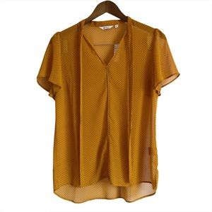*FINALSALE* NWT REITMANS Polkadot Tie Blouse Shirt